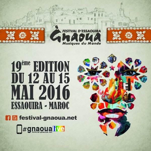 Gnaoua Music Festival Poster Square - 19 Edition
