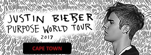 Justin Bieber - Purpose World Tour Cape Town Poster