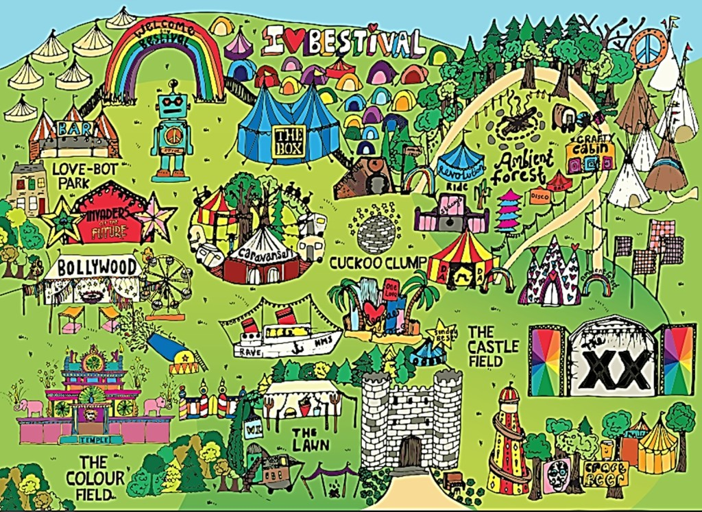 Map Of new site - Bestival 2017